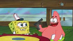 SpongebobGivesPatAGun1