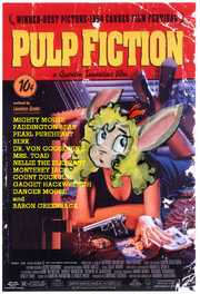 Pulp Fiction (Disney and Sega Animal Style) Poster