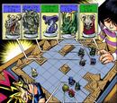 Dark Yugi and Mokuba's pre Death-T Capsule Monster Chess game
