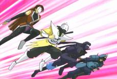 """Kunoichi Ayame the Ninja Girl"", ""Ninja Commando Kabuki"", ""Ninja Soldier Katana"" and ""Ninja Commander Ikusa"""