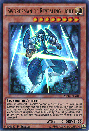Yugioh Wall Of Revealing Light Ruling : Swordsman of Revealing Light Yu-Gi-Oh! FANDOM powered by Wikia