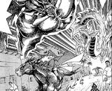 Priests, Atem and Bakura's city ka battle (manga)
