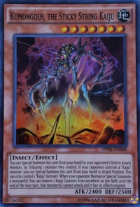 YuGiOh! TCG karta: Kumongous, the Sticky String Kaiju