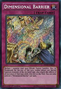 YuGiOh! TCG karta: Dimensional Barrier