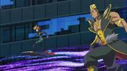Playmaker and Onizuka battle