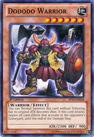 dododo warrior yugioh fandom powered by wikia