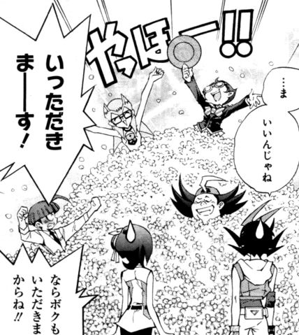 File:Yuma-tachi eat Captain Corn's popcorn.png