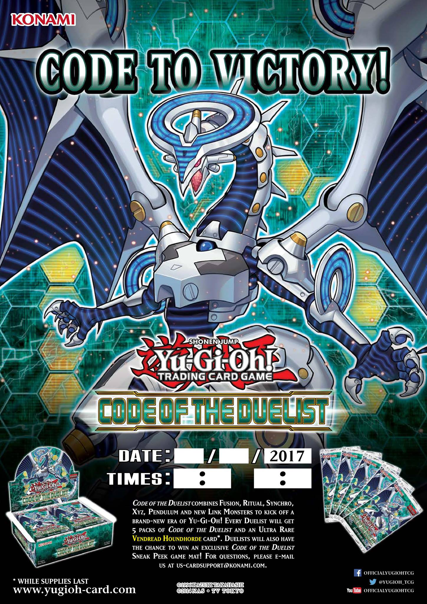 code of the duelist sneak peek participation card yu gi oh