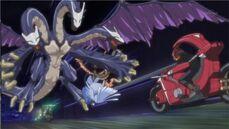 5Dx001 Yusei faces Montage Dragon