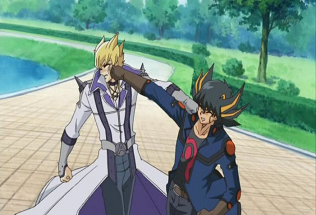 Arquivo:5Dx043 Yusei and Jack tussle.png