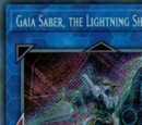 Gaia Saber, the Lightning Shadow