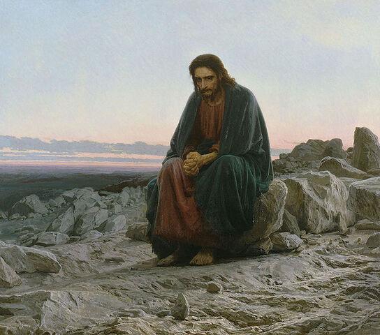 File:Kramskoi Christ dans le désert.jpg