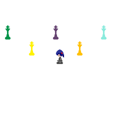 Colourful chess pieces