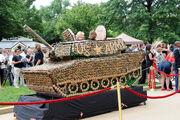 US Army Birthday Cupcake Tank