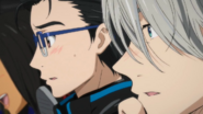 Yuuri and Viktor seeing the others skaters
