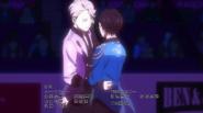Viktor and Yuuri on the ice