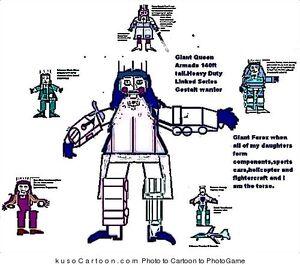 Gestalt warrior Queen Armada