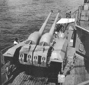 10.5 cm mount on Prinz Eugen