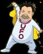 Iwajima in UFO costume