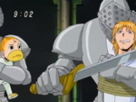 Kanchomé and Folgore as Steng's hostages
