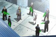 Li Pakron and his men surrounding Wonrei (English dub's censorship)