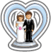 Bridal Wedding Cake Topper-icon