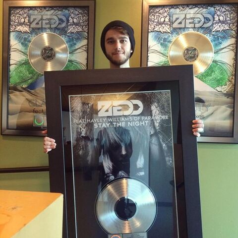 File:Zedd with a framed Stay the Night cover.jpg