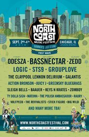 North Coast Music Festival first wave 2016 poster