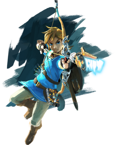 File:BotW Link Shooting Artwork.png