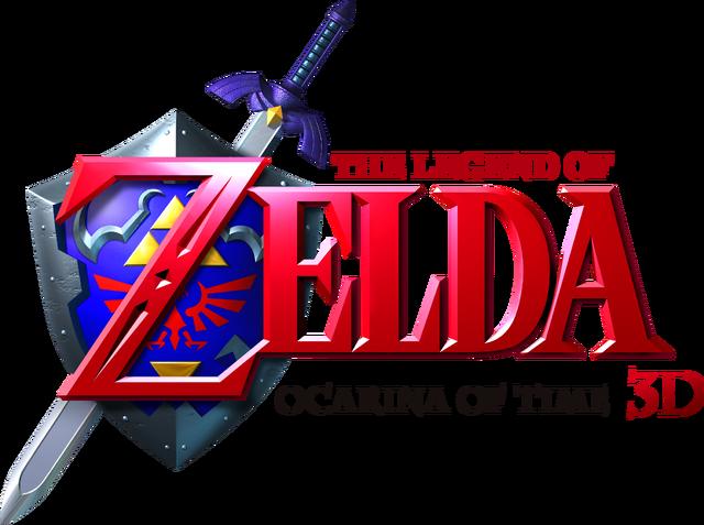 File:The Legend of Zelda - Ocarina of Time 3D (logo).png