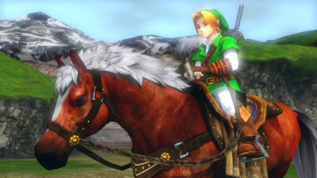 File:Hyrule Warriors Horse Epona of Time (Victory Cutscene OoT).png