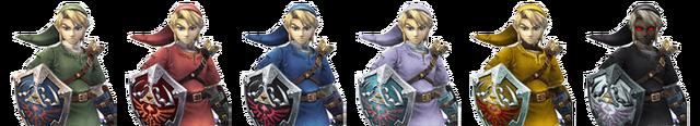 File:Link Palette Swaps (Super Smash Bros. Brawl).png