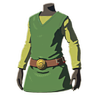 Breath of the Wild amiibo Rune Items (Hero of Wind Armor Set) Tunic of the Wind (Icon)