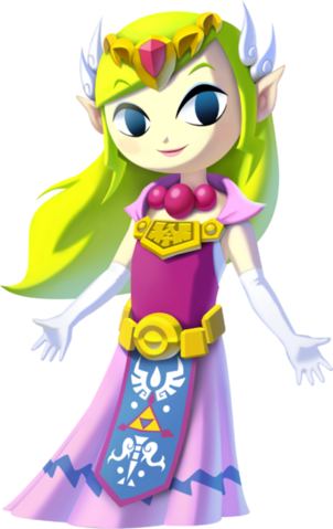 File:The Wind Waker HD Artwork Princess Zelda (Official Artwork).png
