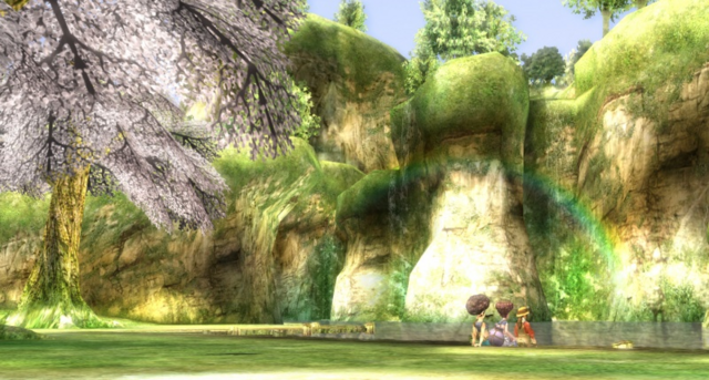 File:Twilight Princess Lanayru Tourist Association Hena, Coro, and Iza (Ending Cutscene).png