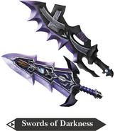 Hyrule Warriors Great Swords Swords of Darkness (Render)