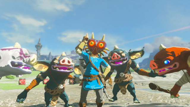 File:Breath of the Wild The Master Trials DLC Majora's Mask (Head Armor).png