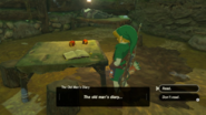 Breath of the Wild Diary The Old Man's Diary (Woodcutter's House)