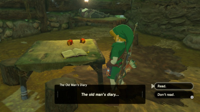 File:Breath of the Wild Diary The Old Man's Diary (Woodcutter's House).png