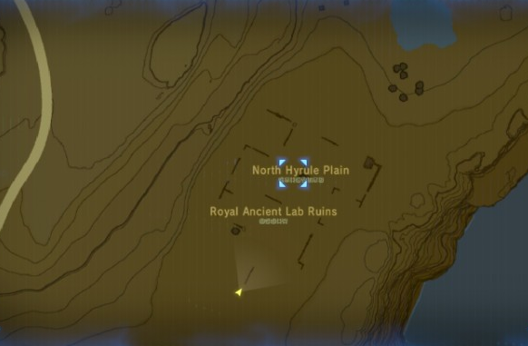 File:Breath of the Wild Sheikah Slate Map (Hyrule Ridge) Royal Ancient Lab Ruins (North Hyrule Plains).png