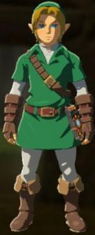 File:Breath of the Wild amiibo Rune Items (Hero of Time Armor Set) Hero of Time's Armor (Kokiri Tunic & Kokiri Boots).png