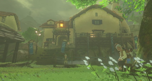 File:Breath of the Wild Hateno Village (East Necluda) The Great Ton Pu Inn (Exterior).png