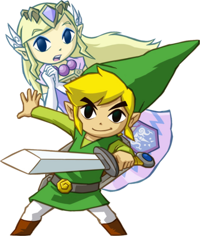 File:Link and Princess Zelda (Spirit Tracks).png