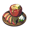 Breath of the Wild Food Dish (Hot Buttered) Hot Buttered Apple (Icon).png