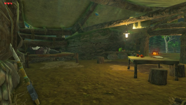 File:Breath of the Wild Great Plateau Woodcutter's Cabin (Interior).png