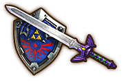 File:Hyrule Warriors Legendary Blade of Evil's Bane Master Sword (with Hylian Shield).png
