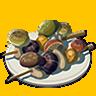 Breath of the Wild Food Dish (Skewers) Copious Mushrooms Skewers (Icon).png