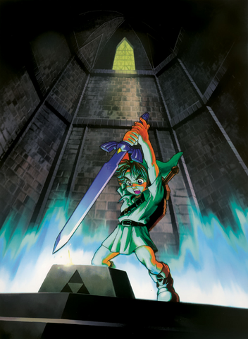 File:Link and the Master Sword (Ocarina of Time).png