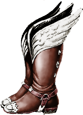 File:Link's Awakening Artwork Pegasus Boots (Official Artwork).png