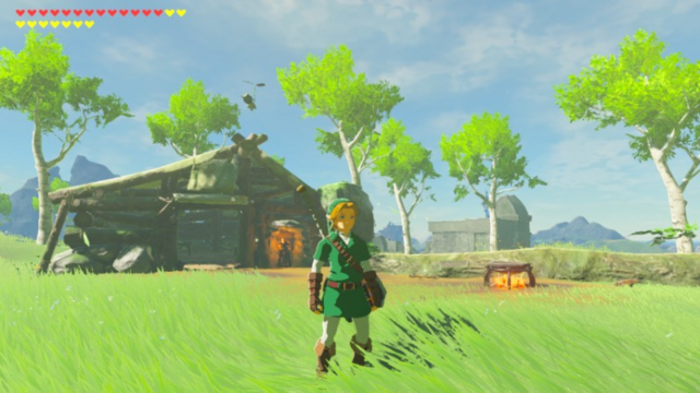 File:Breath of the Wild Great Plateau Woodcutter's Cabin (Exterior).png